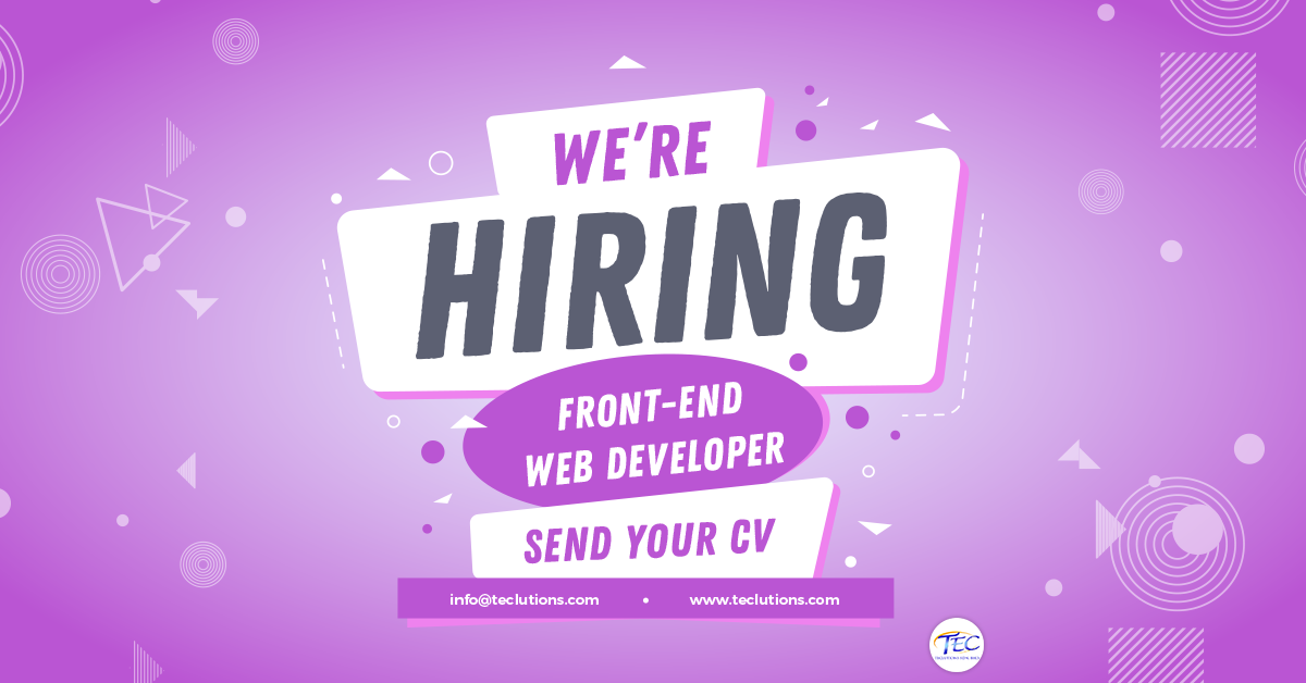 2018-november-teclutions-job-recruitment-hiring-front-end-web-developer